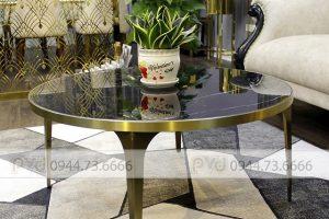 Bàn trà inox mạ vàng pvd và những ưu điểm nổi bật