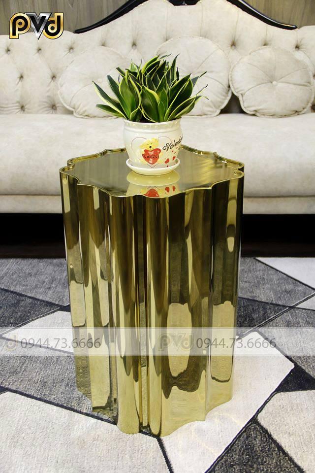 Mạ vàng pvd giúp nâng cao chất lượng bàn trà inox mạ vàng