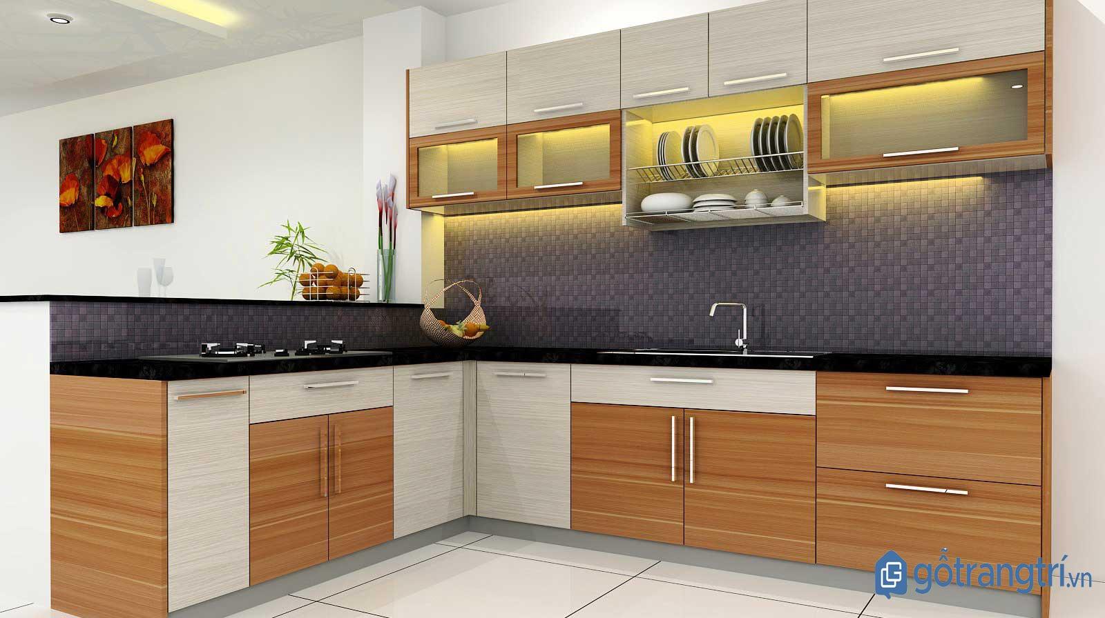 tủ kệ trang trí phòng bếp