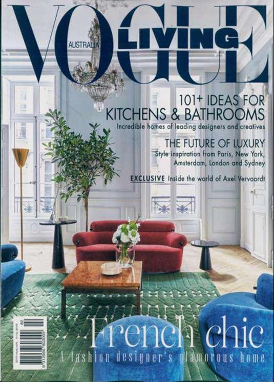 tạp chí nội thất Vogue Living